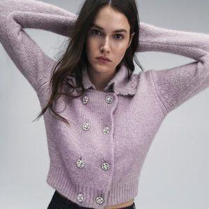 ZARA Jewel Button Jacket